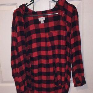 girls button up flannel